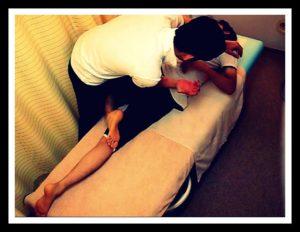 青葉台で疼痛緩和を目指した身体の歪みを整える施術写真