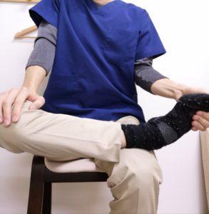 右の股関節の開きの制限