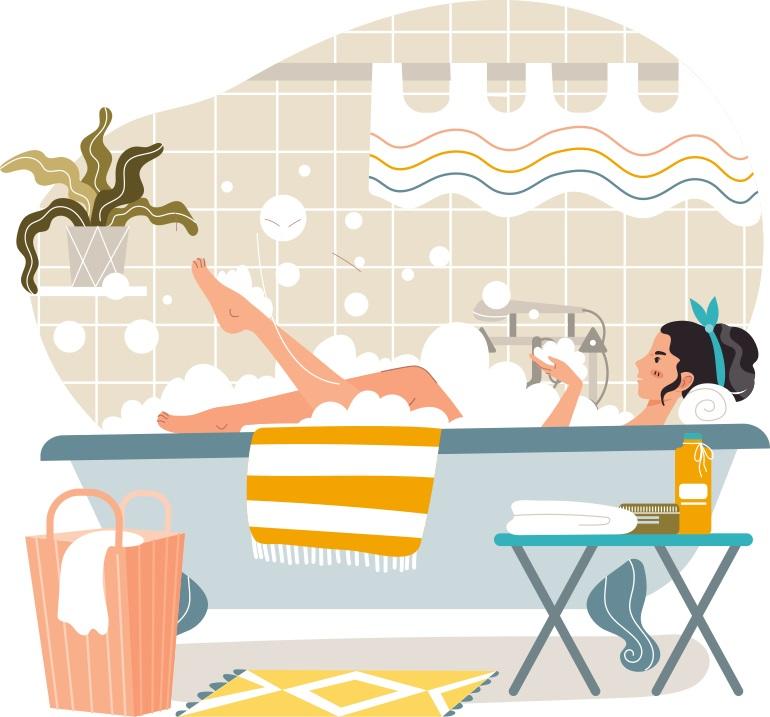 入浴前後ストレッチ