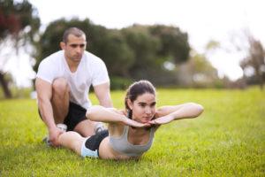 背筋下部のストレッチ運動