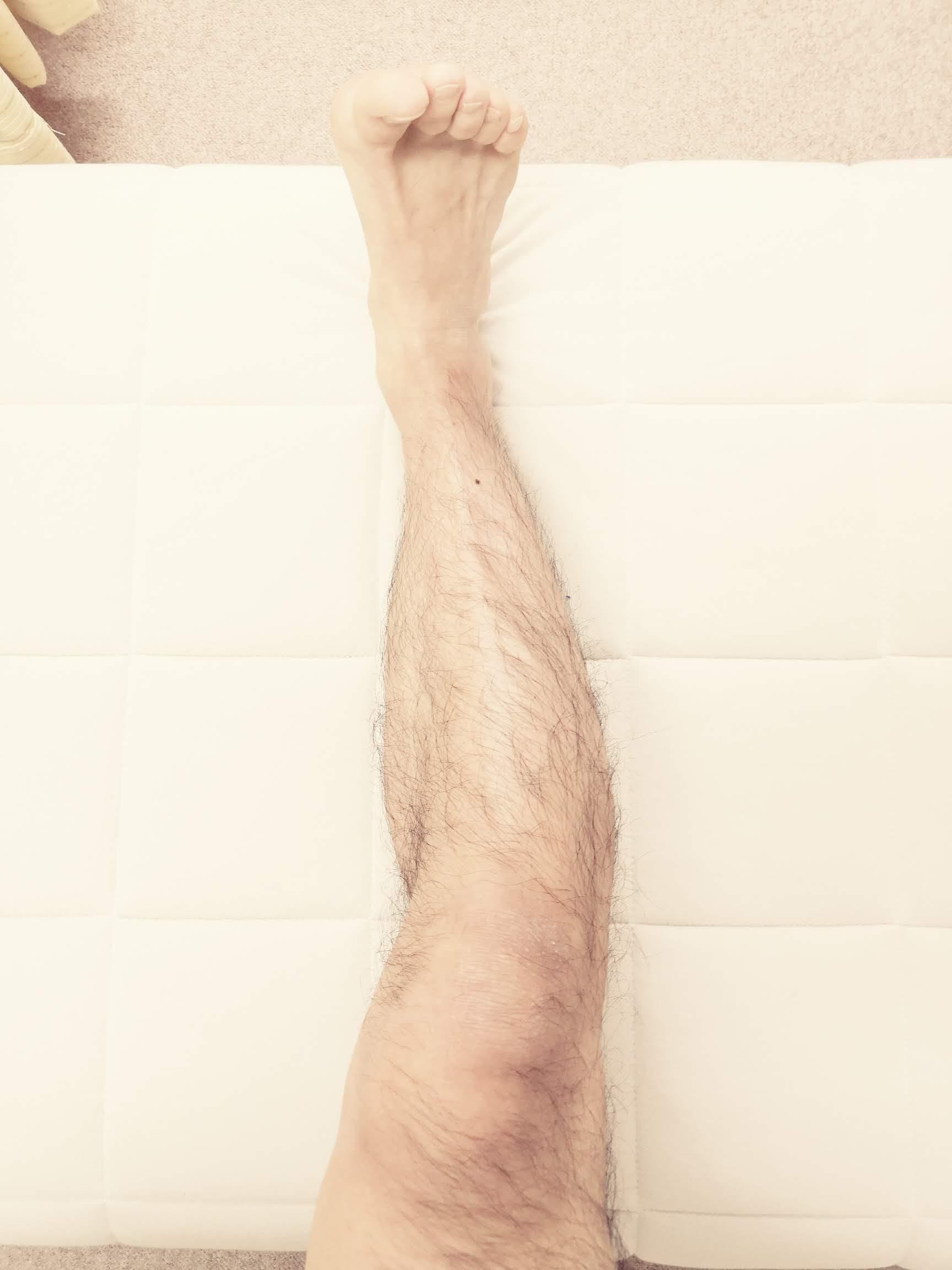 膝の軸を確認